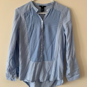 Soft Bib Shirt with Roll Up Sleeves
